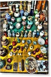 The Antique Market Acrylic Print by Michael Garyet