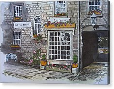 The Antique Shop Acrylic Print by Victoria Heryet