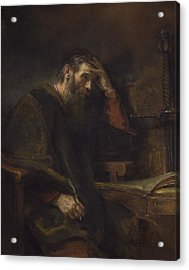 The Apostle Paul Acrylic Print by Rembrandt Van Rijn