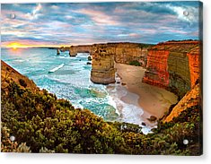The Apostles Sunset Acrylic Print