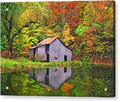The Appalachian Reflection Acrylic Print by Bijan Pirnia