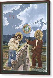 The Apparition Of The Holy Trinity In Arroyo Secco 147 Acrylic Print