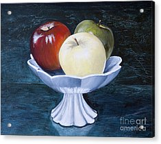 The Apple Dish Acrylic Print by Dinny Madill