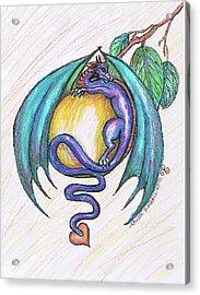 The Apple Dragon Acrylic Print