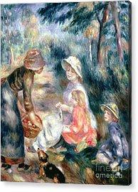 The Apple-seller Acrylic Print by Pierre Auguste Renoir