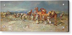 The Arab Caravan   Acrylic Print by Italian School