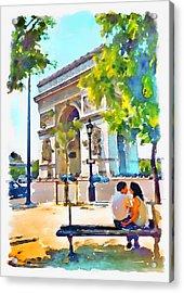 The Arc De Triomphe Paris Acrylic Print by Marian Voicu