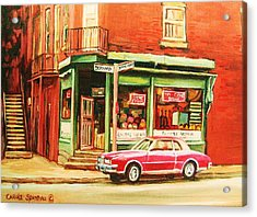 The Arcadia Five And Dime Store Acrylic Print by Carole Spandau