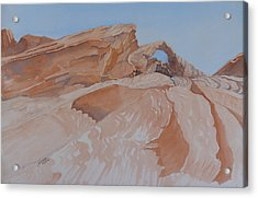 Acrylic Print featuring the painting The Arch Rock Experiment - Vi by Joel Deutsch