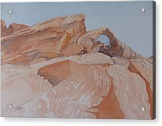 Acrylic Print featuring the painting The Arch Rock Experiment - Vii by Joel Deutsch