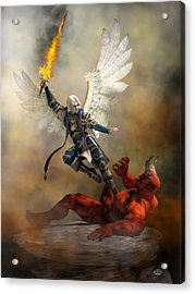The Archangel Michael Acrylic Print by Daniel Eskridge
