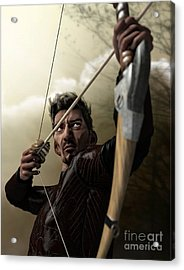 Acrylic Print featuring the digital art The Archer by Sandra Bauser Digital Art
