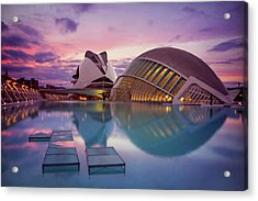 The Architecture Of Modern Valencia Spain  Acrylic Print by Carol Japp