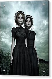 They Are Coming - The Halloween Twins Acrylic Print