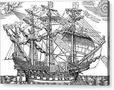 The Ark Raleigh, The Flagship Of The English Fleet Acrylic Print