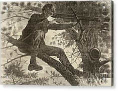 The Army Of The Potomac  A Sharpshooter Acrylic Print by Winslow Homer