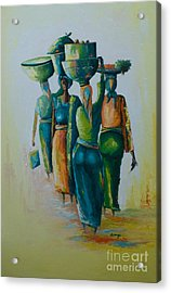 the Arrival Acrylic Print by Alfred Awonuga
