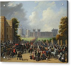 The Arrival Of Louis-philippe Acrylic Print by Edouard Pingret