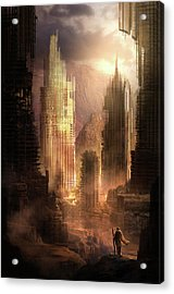 The Arrival Acrylic Print by Philip Straub
