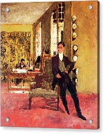 The Art Dealers Acrylic Print by Edouard Vuillard