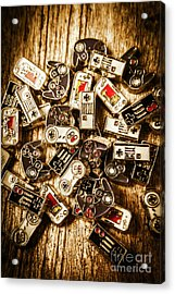 The Art Of Antique Games Acrylic Print