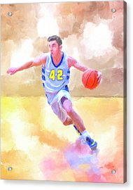 Acrylic Print featuring the painting The Art Of Basketball by Mark Tisdale