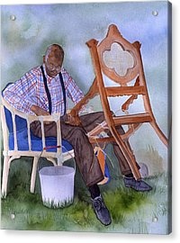 The Art Of Caning Acrylic Print by Jean Blackmer