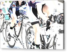 The Art Of Cycling  Acrylic Print by Steven Digman