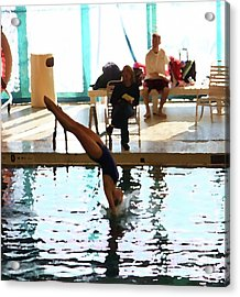 The Art Of Diving 3 Acrylic Print