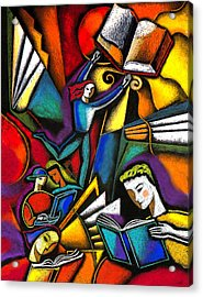 Acrylic Print featuring the painting The Art Of Learning by Leon Zernitsky