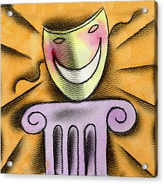 The Art Of Smiling Acrylic Print by Leon Zernitsky