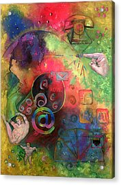 The Art Of The Net Acrylic Print by Peter Bonk