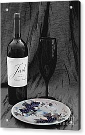The Art Of Wine And Grapes Acrylic Print by Sherry Hallemeier