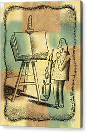 The Art Of Writing Acrylic Print
