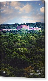 The Artesian Hotel In The Forest In Vertical Acrylic Print by Tamyra Ayles