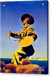 The Artist 1909 Acrylic Print by Padre Art