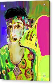 The Artist In Fauve Working Artist Acrylic Print