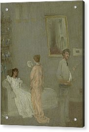 The Artist In His Studio Acrylic Print by James Abbott McNeill Whistler