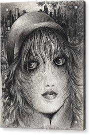 The Artist Acrylic Print by Rachel Christine Nowicki