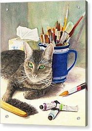 The Artiste Acrylic Print by Karen Fleschler