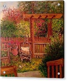 The Artist's Garden Acrylic Print