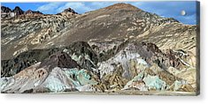 Acrylic Print featuring the photograph The Artists Palette Death Valley National Park by Michael Rogers