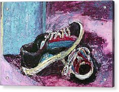 The Artists Shoes Acrylic Print by Sarah Crumpler