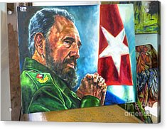 The Arts In Cuba Fidel Castro 2 Acrylic Print