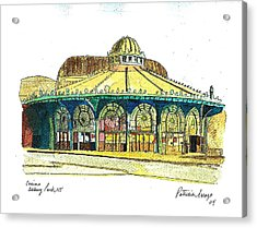 The Asbury Park Casino Acrylic Print by Patricia Arroyo