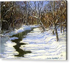 The Assabet River In Winter Acrylic Print by Jack Skinner