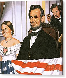 The Assassination Of Abraham Lincoln Acrylic Print by John Keay