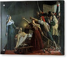 The Assassination Of Marat Acrylic Print by Jean Joseph Weerts