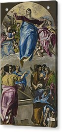 The Assumption Of The Virgin Acrylic Print by El Greco