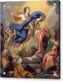 The Assumption Of The Virgin Acrylic Print by Guillaume Courtois